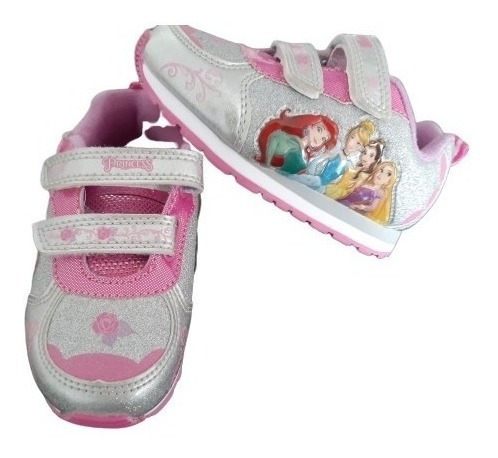 Tênis Menina Princesas Disney Que Pisca Original Eua Criança
