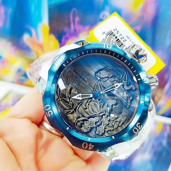 Relógio Invicta 25722 Carpa Azul Borracha ** Venom Koi Fish
