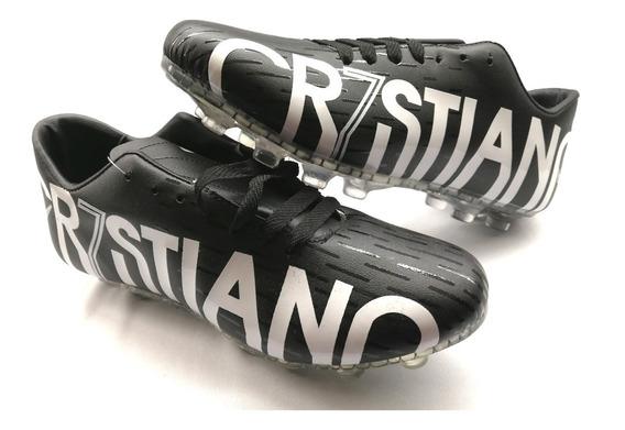 Zapatos Futbol Soccer Tachos Tacos Cr7