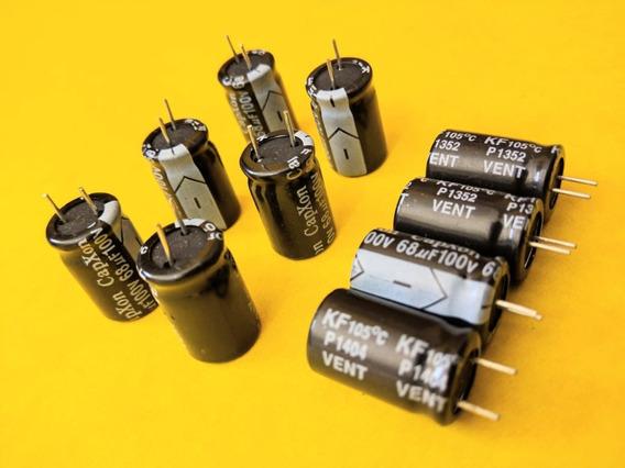 Kit Com 10 Capacitor 68x100v Novos