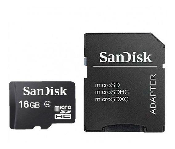 Cartão Memória Micro Sd 16gb Sandisk Câmeras Smartphones