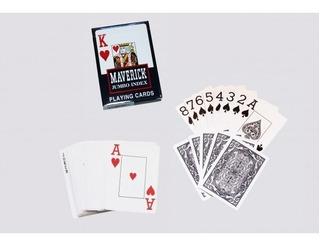 Baralho Maverick Jumbo Cartas Jogo Games Vermelho Ou Azul