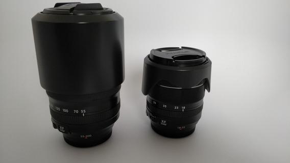 Lentes Fujifilm Xf 18-55 E 55-200 Em Excelente Estado