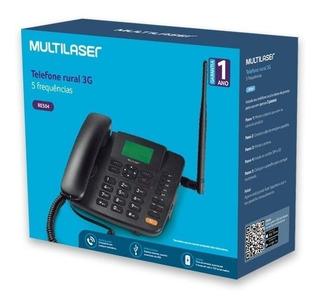 Telefone Celular Fixo Multilaser Re504, 3g Preto, Tel Rural