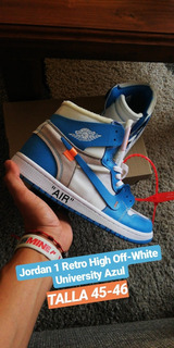 Jordan 1 X Off-white University Azul