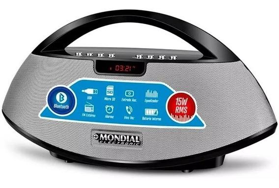 Caixa De Som Bluetooth Mondial Sk-01 Rádio Fm 15 Watts Rms