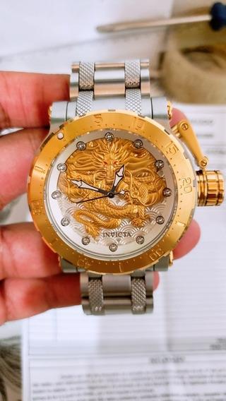 Relogio Invicta Dragon Force 26508 Automático Banhado A Ouro