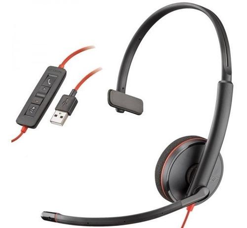 Imagem 1 de 1 de Headset Usb Plantronics C3210 Novo Com Nfe E Garantia