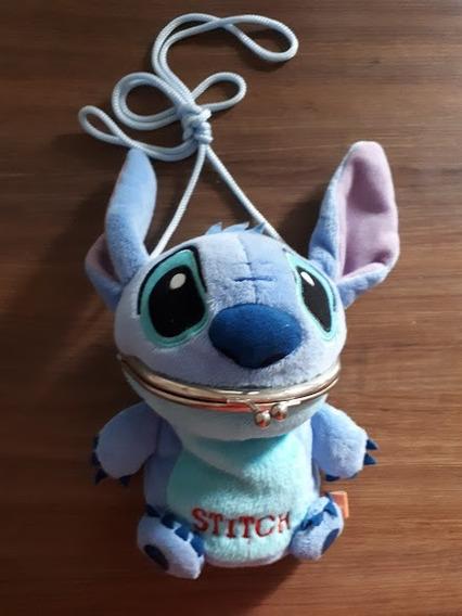 Bolsinha Transversal Stitch Disney Importado Japão
