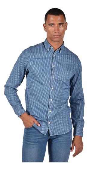 Camisa Real Indigo Tommy Hilfiger Azul Mw0mw03045-984 Hombre