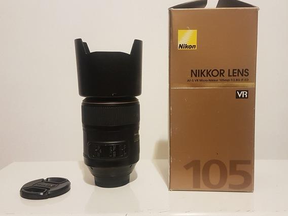 Lente Nikon Af-s Vr 105mm F/ 2.8 If Ed