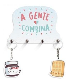 Porta Chaves Nutella E Bolacha Agente Combina + Chaveiros