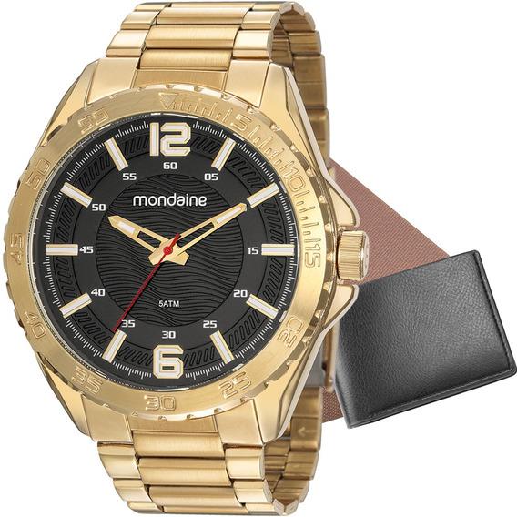 Relógio Masculino Mondaine Com Carteira 53827gpmvde1k
