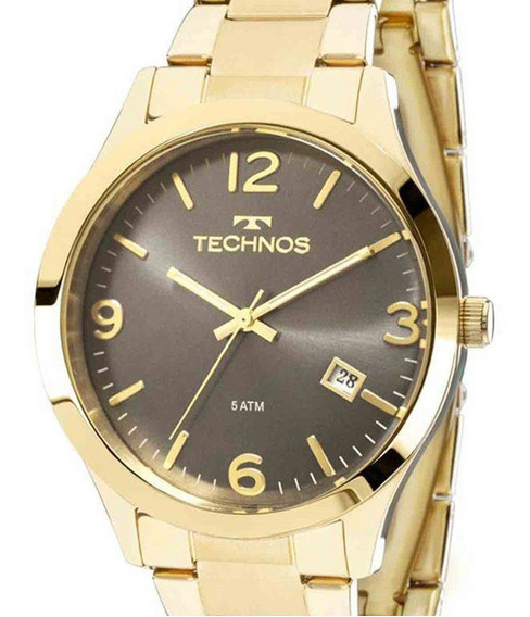Relógio Technos Feminino 2315acd/4c Original Dourado + Nota
