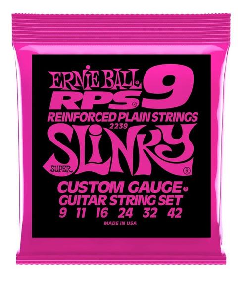 Set Cuerdas Ernie Ball Rps 9 Super Slinky Nickel Wound 9-42