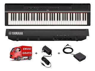 Piano Digital Yamaha P121b De 73 Teclas Pesadas 6/8 6 Octava