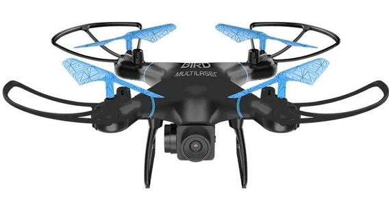 Drone Bird Controle Remoto 80m Flips Em 360 Multilaser Es255