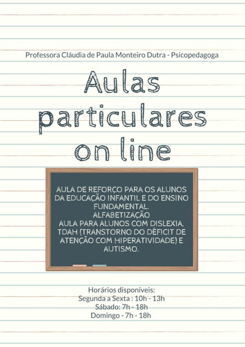 Aulas Particulares On Line