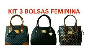 85ff7d751 Kit 3 Bolsas Feminina Revenda - Bagagem e Bolsas no Mercado Livre Brasil