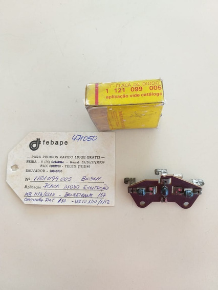 Placa Diodo Excitação Bosch Mb 1113/2213 Bandeirante /87 N10