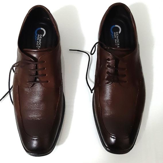 Sapato Smart Comfort Dual Soft Casual - Cor Marrom Escuro