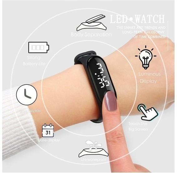 Relógios De Pulso Digitais Eletrônicos De Led + Frete Gratis