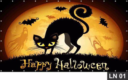 Imagem 1 de 6 de Halloween Painel 3,00x2,00m Lona Festa Banner Aniversário