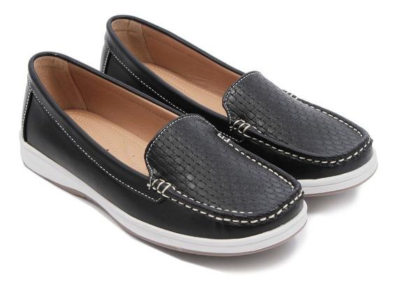 Mocasin Zapato Mujer Nautico Eco Cuero Lady Stork #2