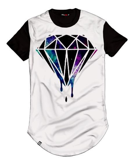 Camiseta Longline Diamante Negro Black Diamond