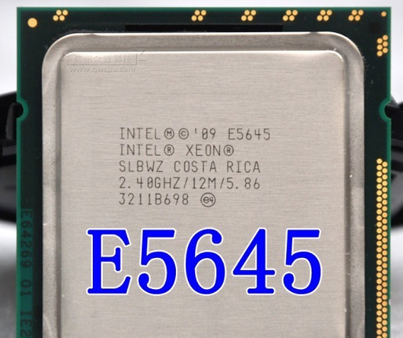 Xeon E5645 1366 Six Core 2,40 Ghz - 2,67ghz 6/12 Cores