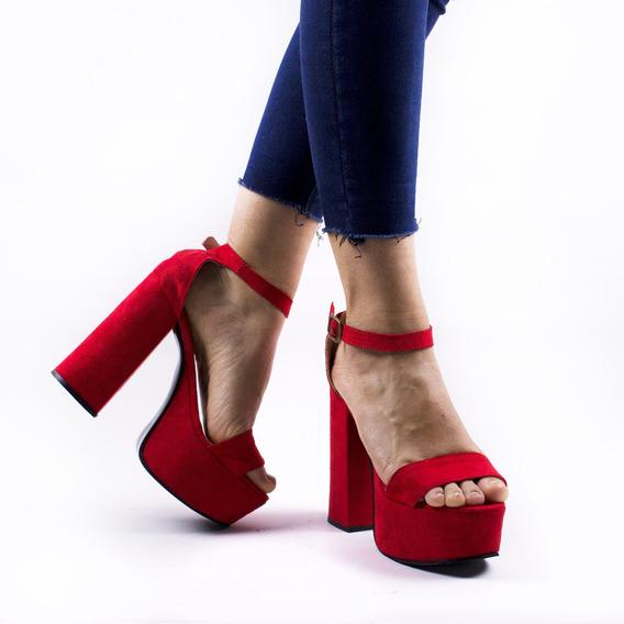 Zapato Sandalia Mujer Fiesta Taco Alto Plataforma