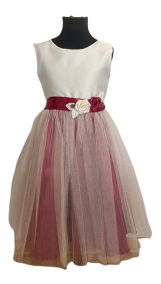 Vestido De Nena Fiesta Tul Niña Delicado Excelente Calidad