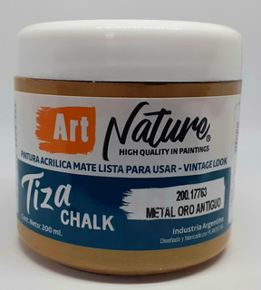 Pintura A La Tiza Nature Metalica Oro Antiguo