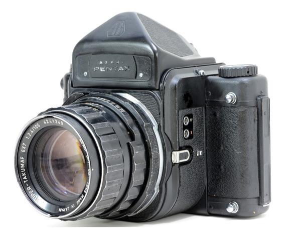 Pentax 6x7 Com Objetiva 105mm 2.4 Revisada