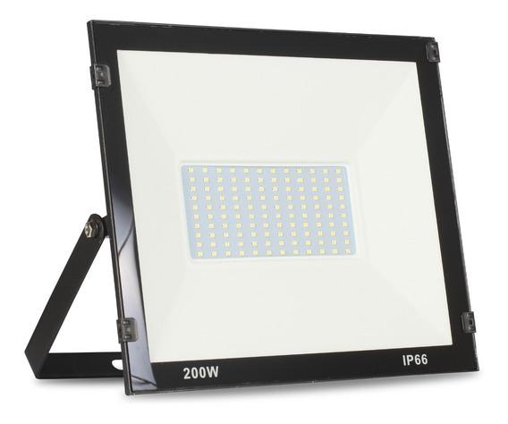Refletor Led 200w Holofote Branco Frio Bivolt Prova D
