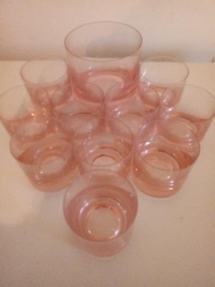 10 Vasos De Whisky Cristal Y Hielera