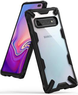 Capa Galaxy S10 Plus Ringke Fusion X + Película Hprime Full