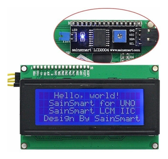 Display Lcd 2004 Backlight Azul 20x4 I2c