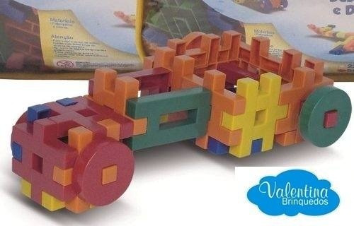 Sacolão Criativo Lig Barras Com 500 Peças - Blocos - Montar