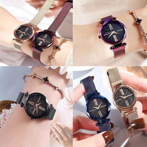 Relógio Importado Feminino Romano Luxo Casual Brilhante