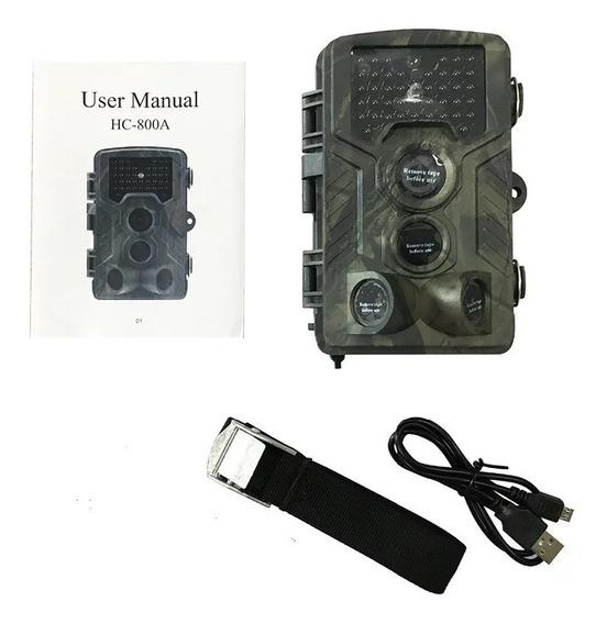Câmera De Trilha Trail Cam Com Visor Lcd 12mp Modelo Hc-800a