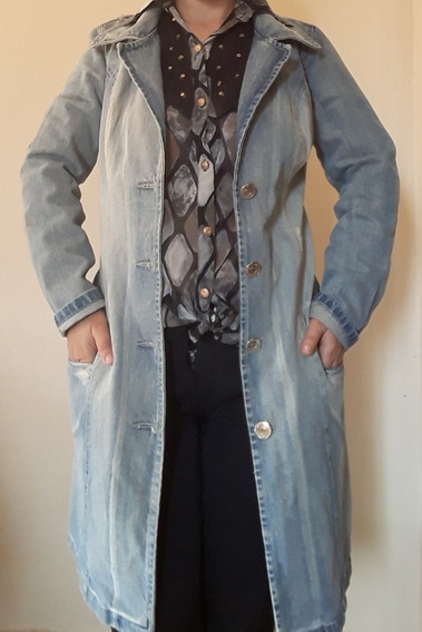 Sobretudo Jeans Casaco Roupa De Frio