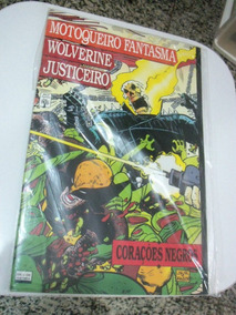 Mot. Fantasma, Wolverine E Justiceiro - Corações Negros