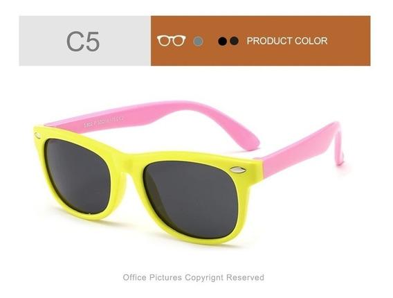 Óculos De Sol Infantil De Menina 2 A 7 Anos Lente Polarizada