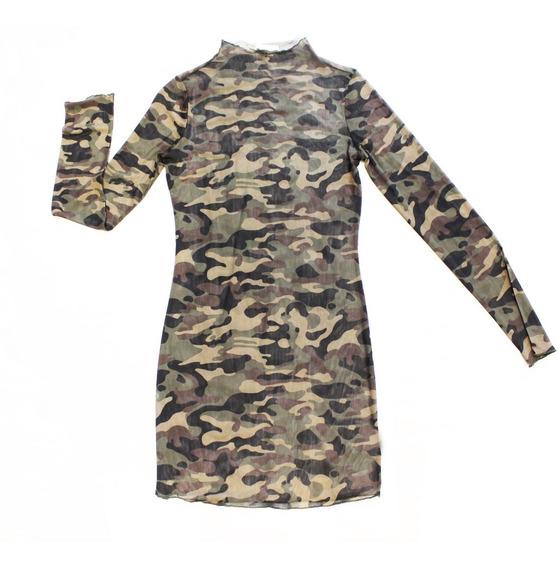 Vestido Remerón Camo Nylon Elastizado (8600)