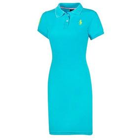 Vestido Casual Dama Polo Hpc 7000 Chi-xgd Azul 89027 T3
