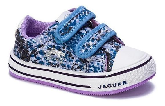 Zapatilla Jaguar Kids 139 Camuflado Celeste 20 21 22 23 24