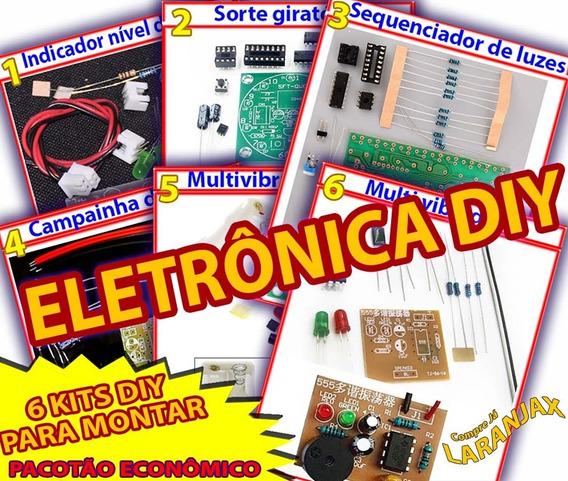 Pacotão Eletrônica Diy 6 Kits Completos Para Montar E Soldar