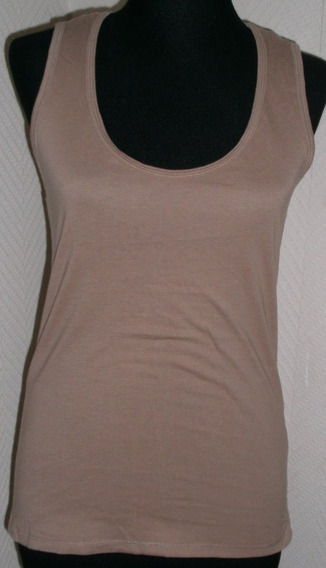 Remera Musculosa Beige. Talle: M / 28. Marca Zara