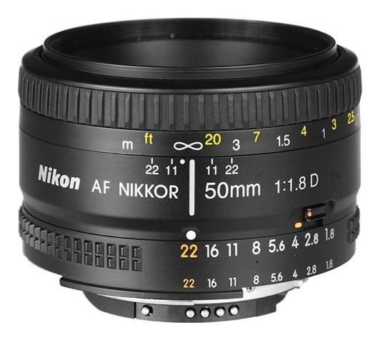 Lente Nikon Normal Af Nikkor 50mm F/1.8d Oem